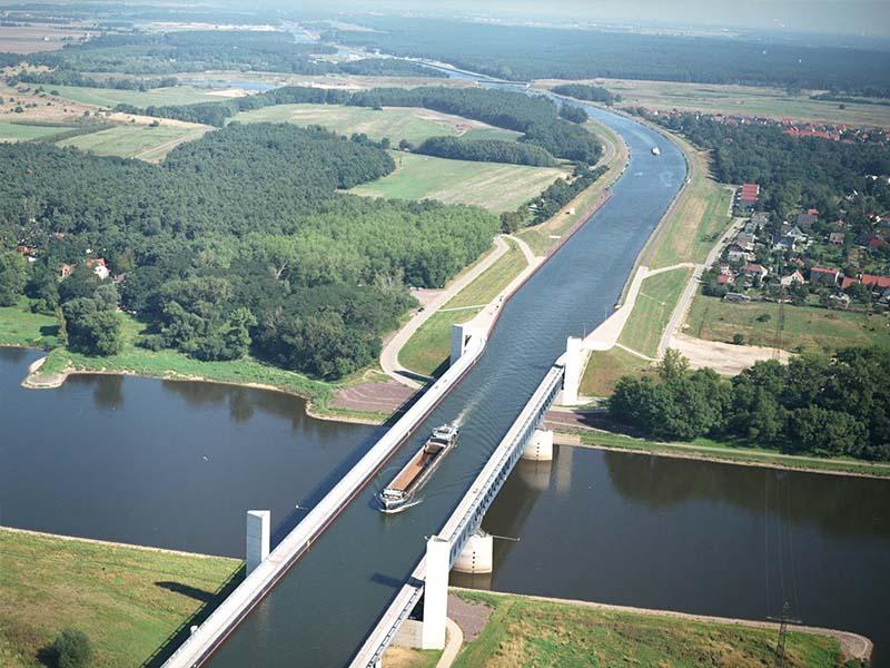 magdeburg-water-bridge, jambatan air magdeburg
