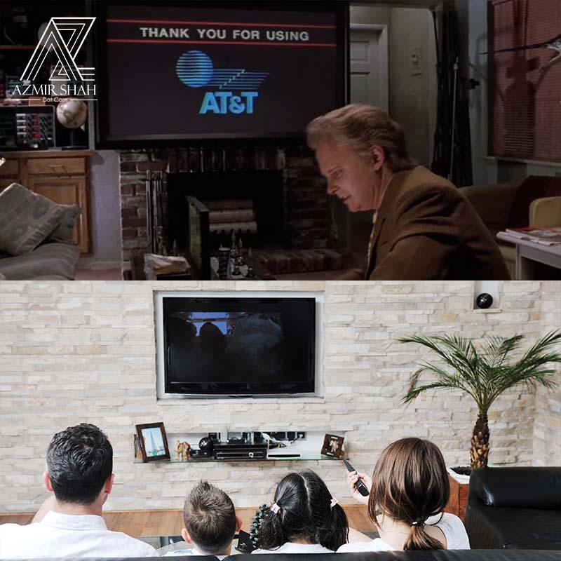 flat screen, flat screen back to the future