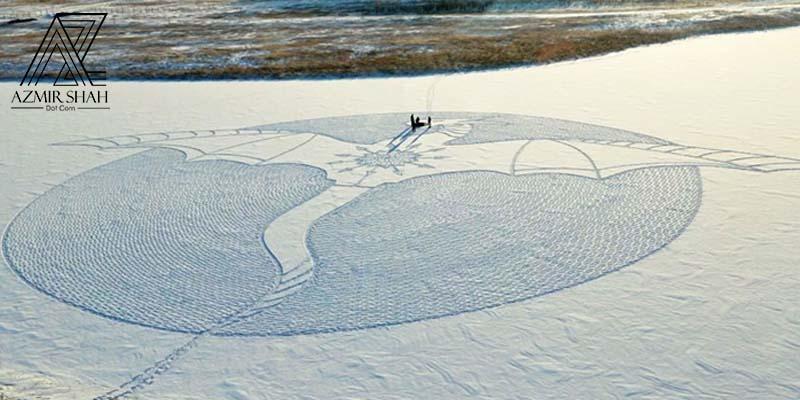 snow art, seni salji, simon beck, siberia