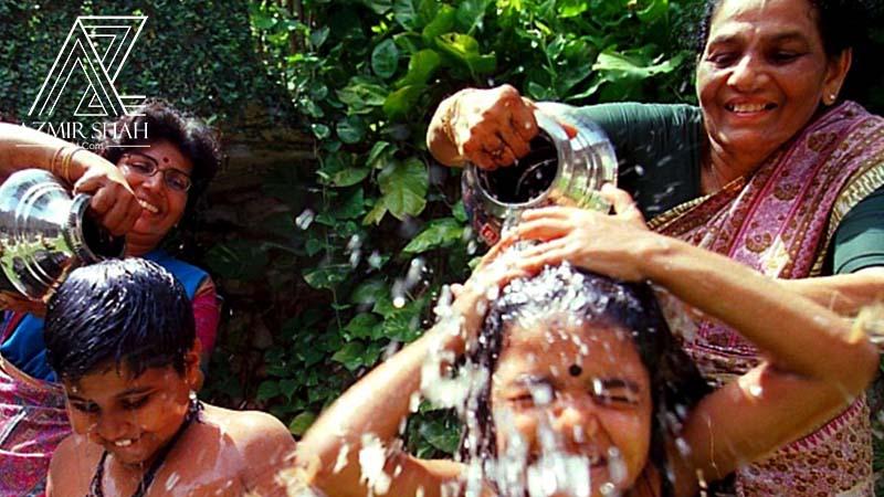 mandi minyak bijan, hari deepavali