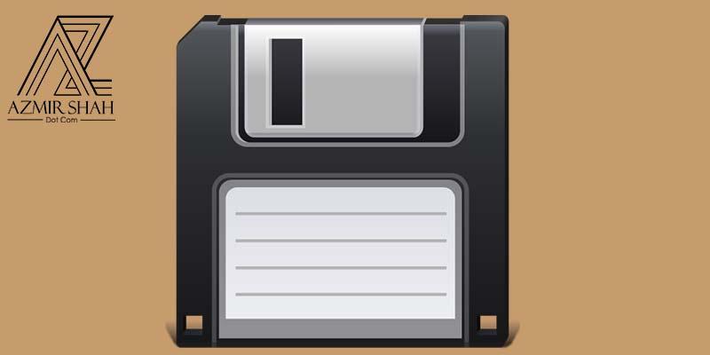 disket, butang save