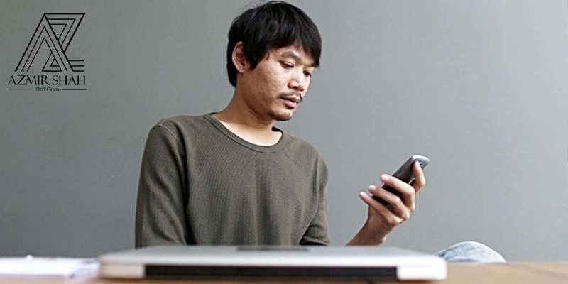 telefon bimbit, bermain handphone di pejabat, main telefon