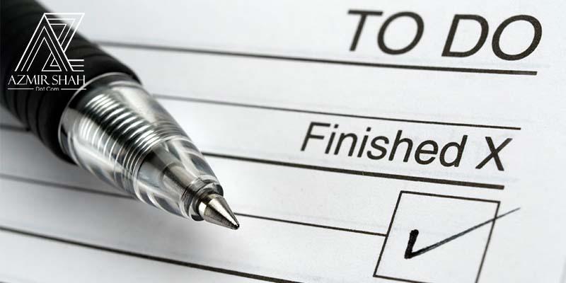 senarai kerja, to-do list,