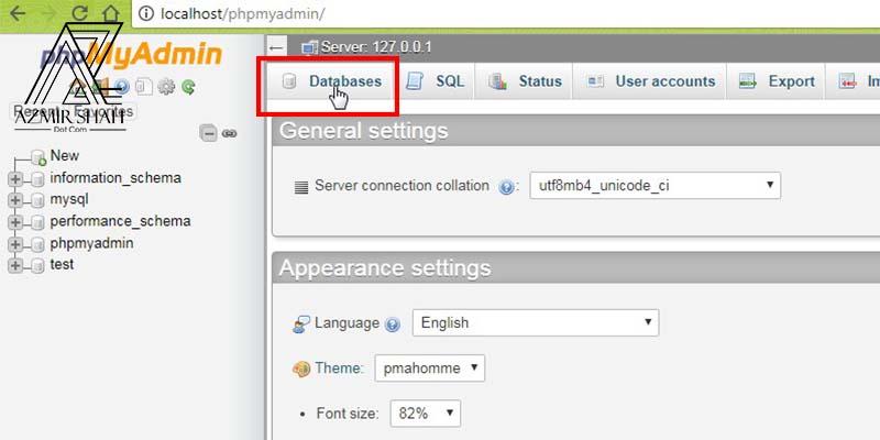 database localhost