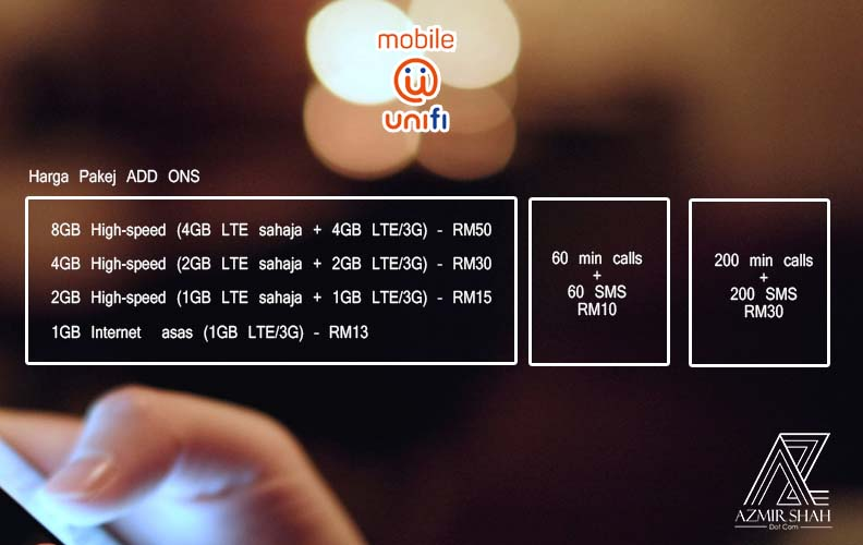 add ons unifi mobile, pakej harga unifi mobile, unifi mobile, harga unifi mobile, pakej tm